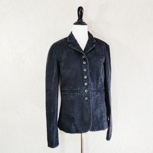 Sundance Black Denim Jean Blazer Jacket